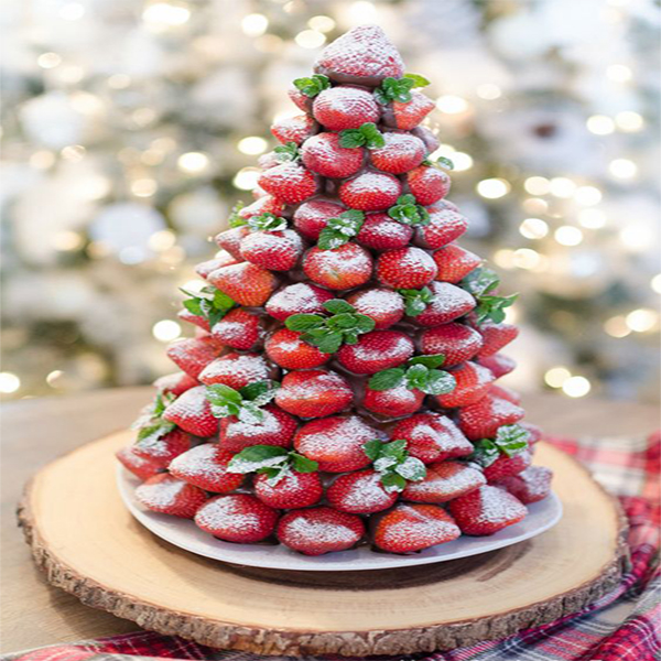 Mint Strawberries Tower