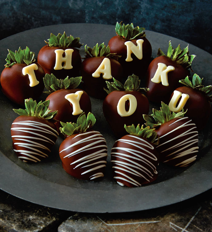 Thank You - Strawberry Dipped Box